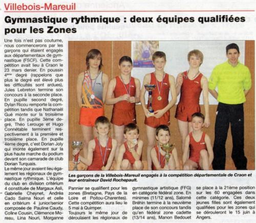 Gymnastique rythmique: deux équipes qualifiées pour les zones