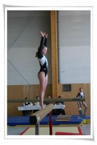 Poutre gymnaste