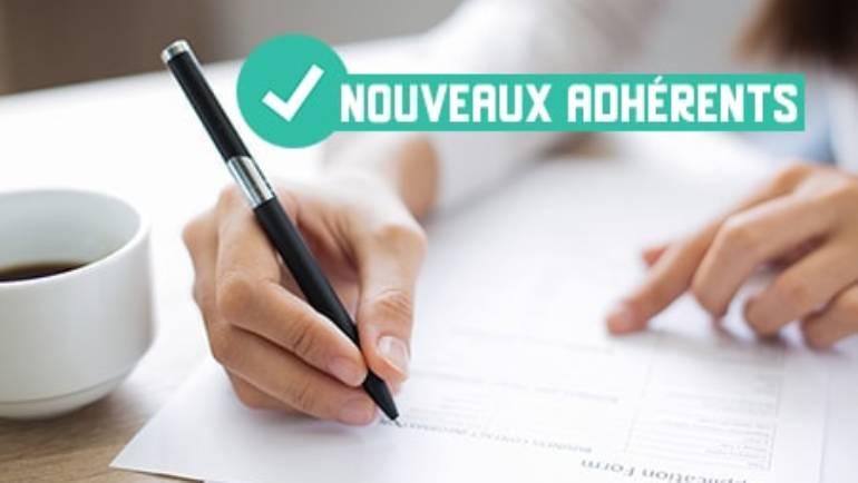 INSCRIPTIONS NOUVEAUX ADHÉRENTS SAISON 2020-2021